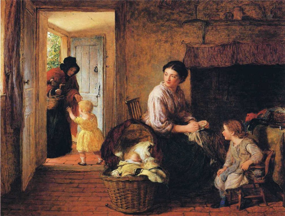 Here's Granny :: George Smith - Woman and child in painting and art фото
