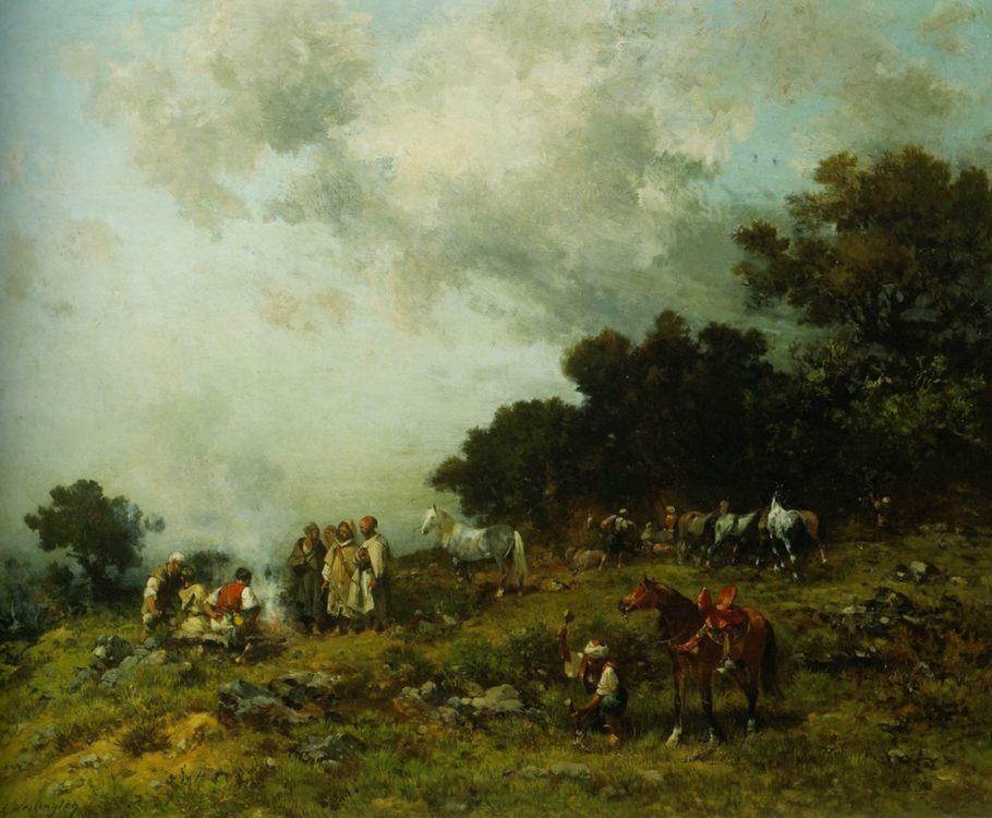 Arab Horses :: Georges Washington  - Summer landscapes and gardens ôîòî