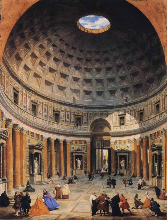 Interior of the Pantheon, Rome :: Giovanni Paolo Pannini - Italy фото
