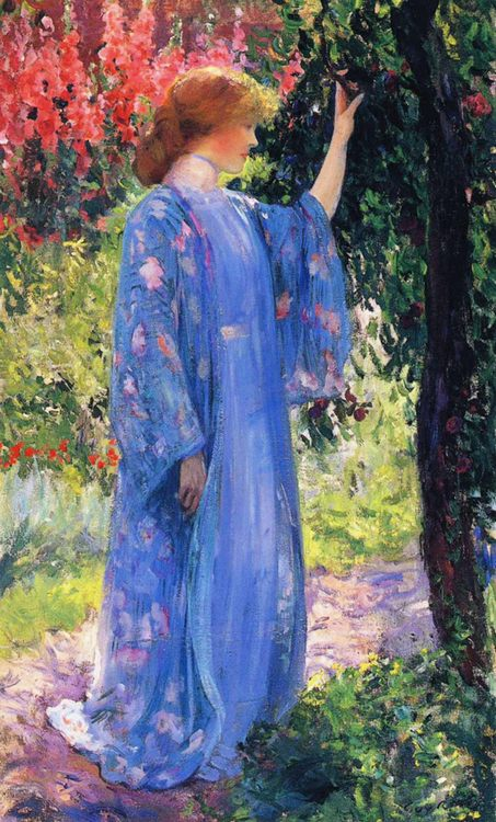 The Blue Kimono :: Guy Rose - 8 female portraits hall ôîòî