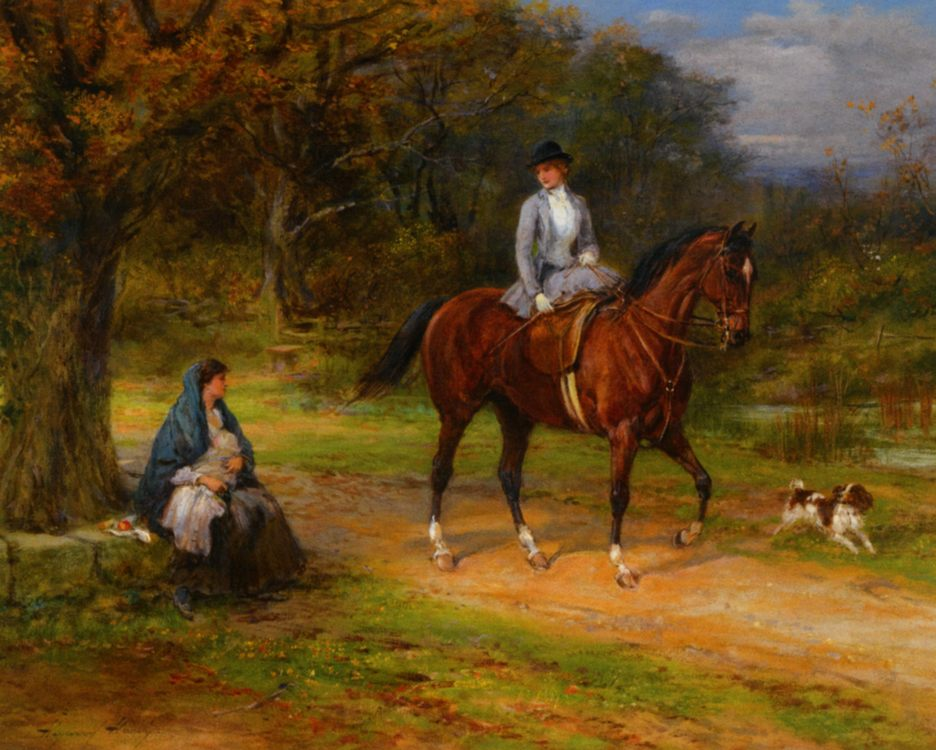 Poverty and Priviledge :: Heywood Hardy  - Horses in art фото