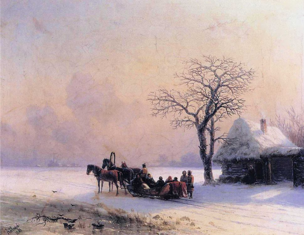 Winter Scene in Little Russia :: Ivan Constantinovich Aivazovsky  - winter landscapes фото