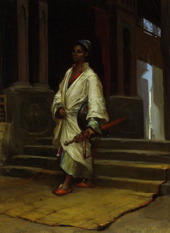 Guarding the Harem :: Paul-Marie Lenoir - Arab women ( Harem Life scenes ) in art  and painting ôîòî