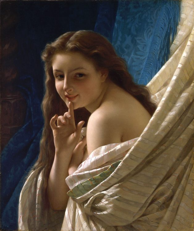 Portrait of a Young Woman :: Pierre-Auguste Cot  - 6 woman's portraits hall ( The middle of 19 centuries ) in art and painting фото