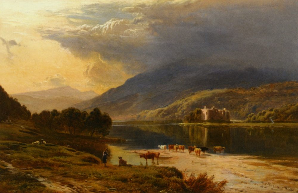 Kilchum Castle Loch Awe :: Sidney Richard Percy  - Mountain scenery фото