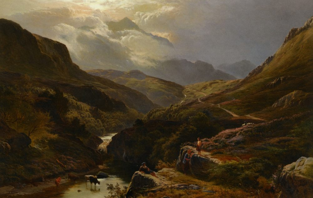 The Road to Loch Turrett :: Sidney Richard Percy - Mountain scenery фото