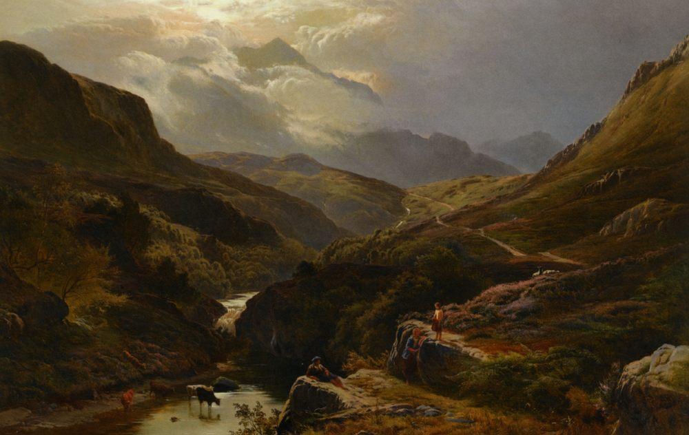 The Road to Loch Turrett :: Sidney Richard Percy - Mountain scenery ôîòî