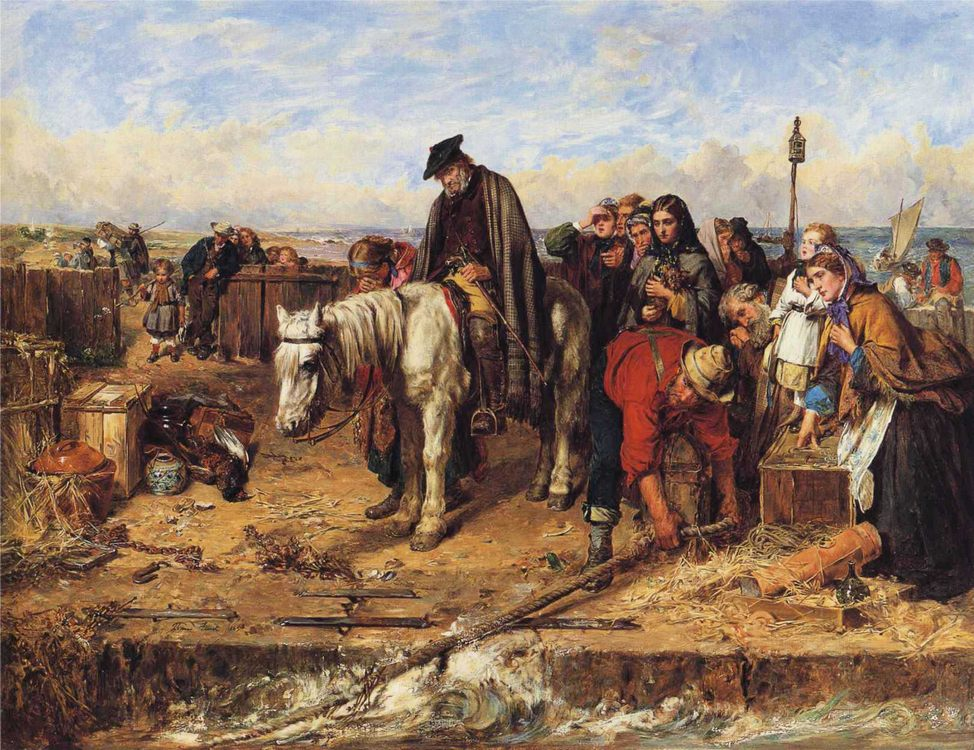 The Last of the Clan :: Thomas Faed - History painting фото