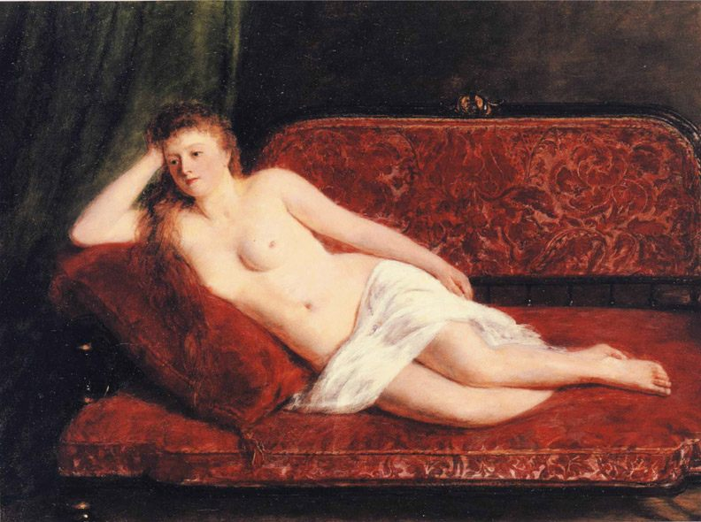 After the Bath -1897 :: William Powell Frith - Nu in art and painting фото