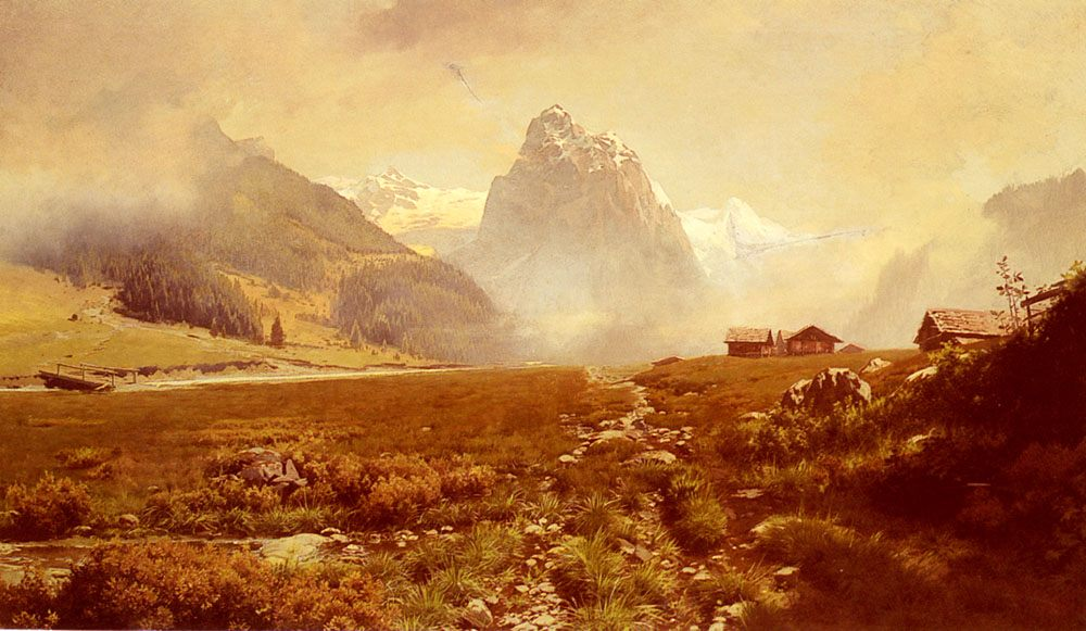 The Swiss Alps :: Frederick Judd Waugh - Mountain scenery фото
