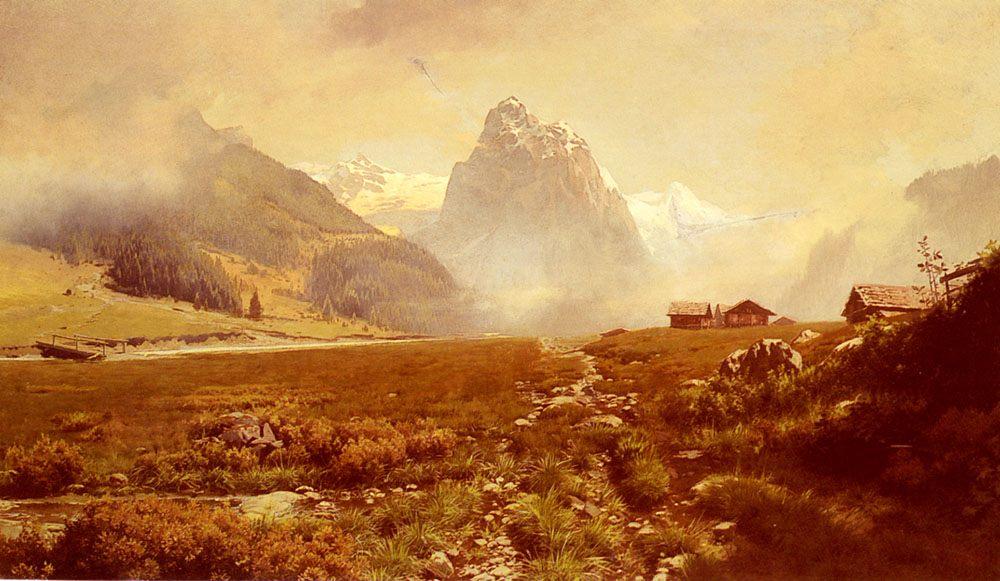 The Swiss Alps :: Frederick Judd Waugh - Mountain scenery фото