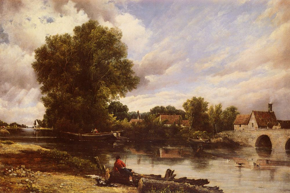 Along The River :: Frederick William Watts - Fishing scenes фото