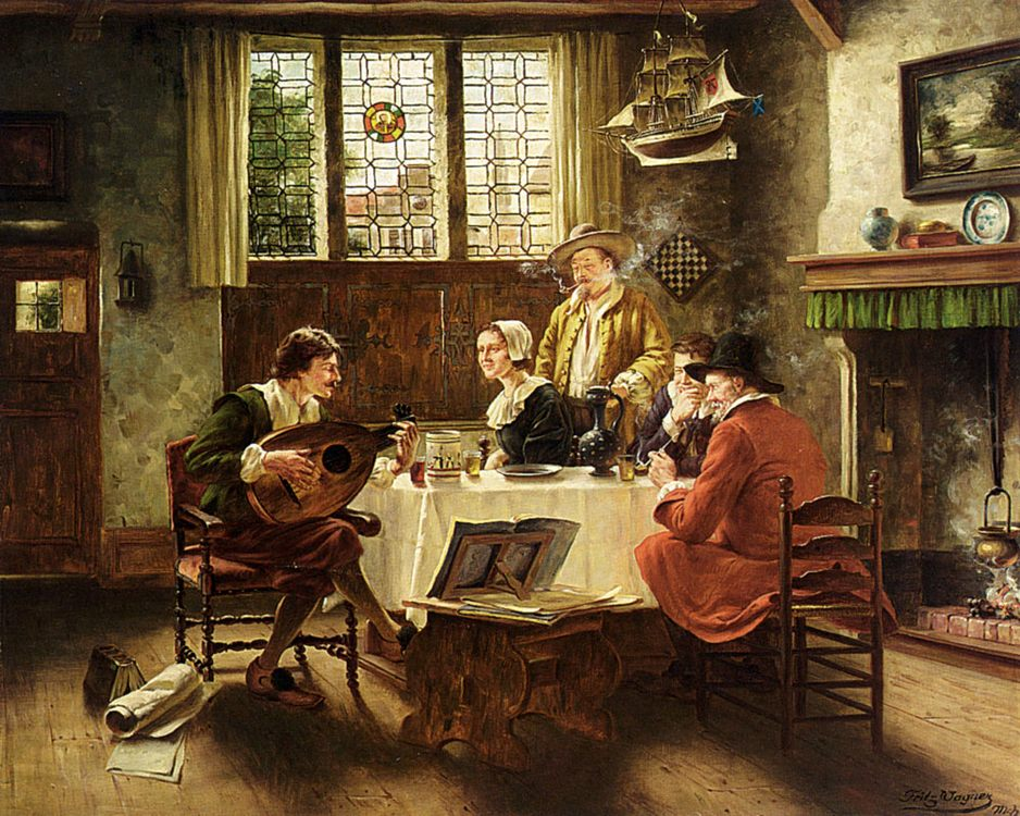 A Musical Interlude :: Fritz Wagner - Interiors in art and painting фото