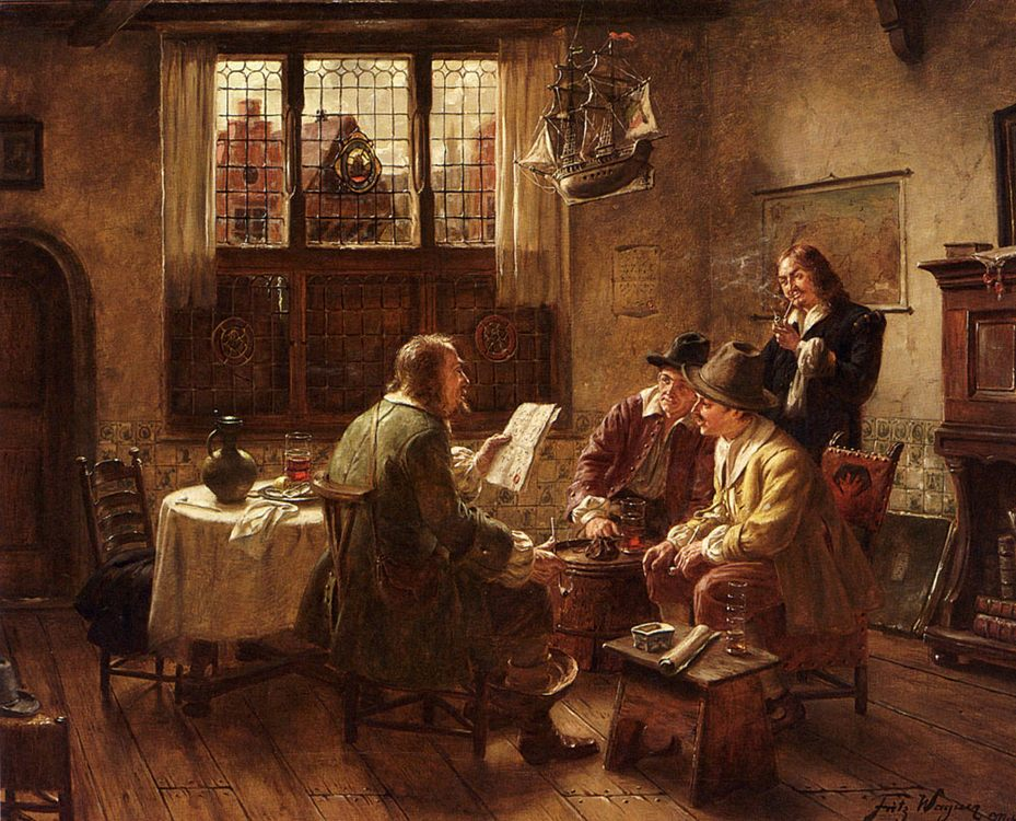 The Contract :: Fritz Wagner - Interiors in art and painting фото