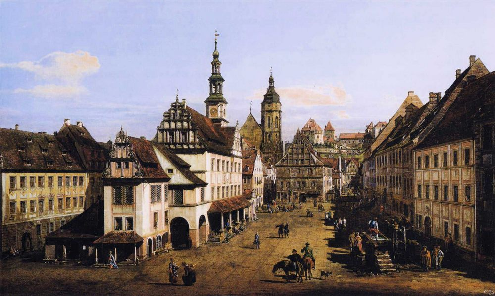 The Marketplace at Pirna :: Bernardo Bellotto - Germany фото