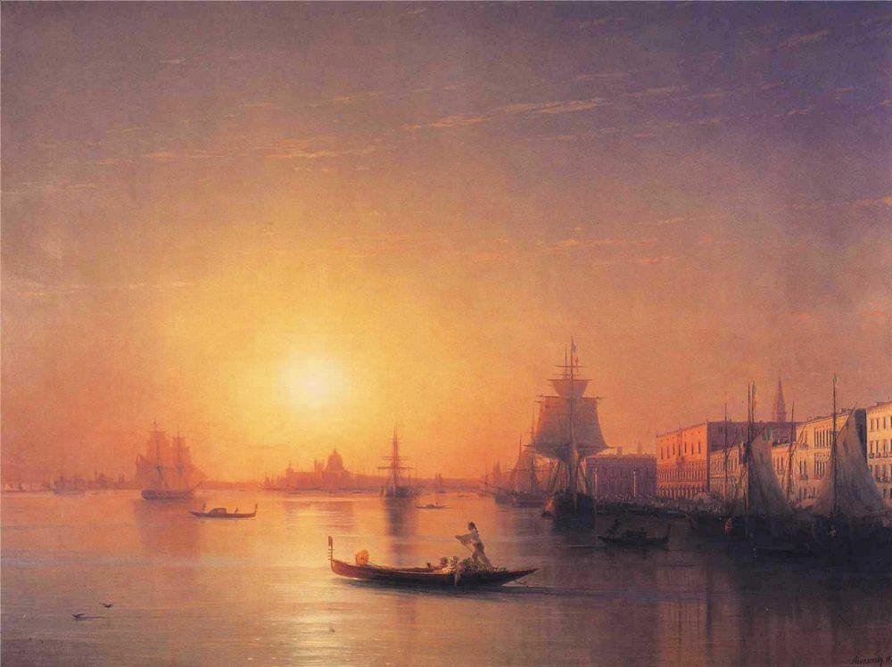 Venice :: Ivan Constantinovich Aivazovsky - Sea landscapes with ships ôîòî