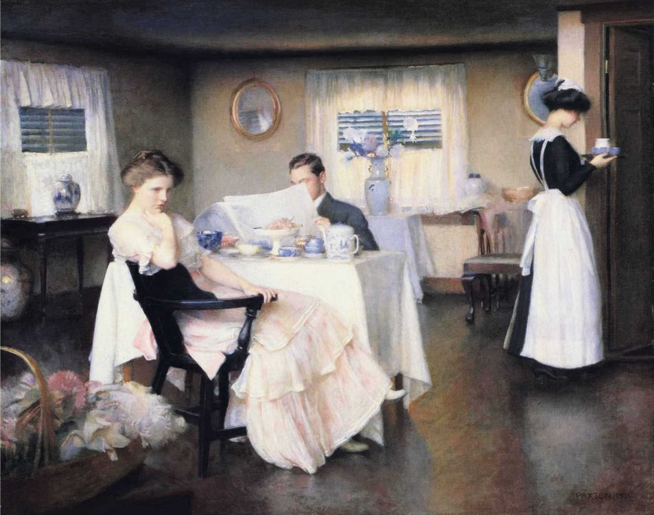 The Breakfast :: William McGregor Paxton  - Interiors in art and painting фото