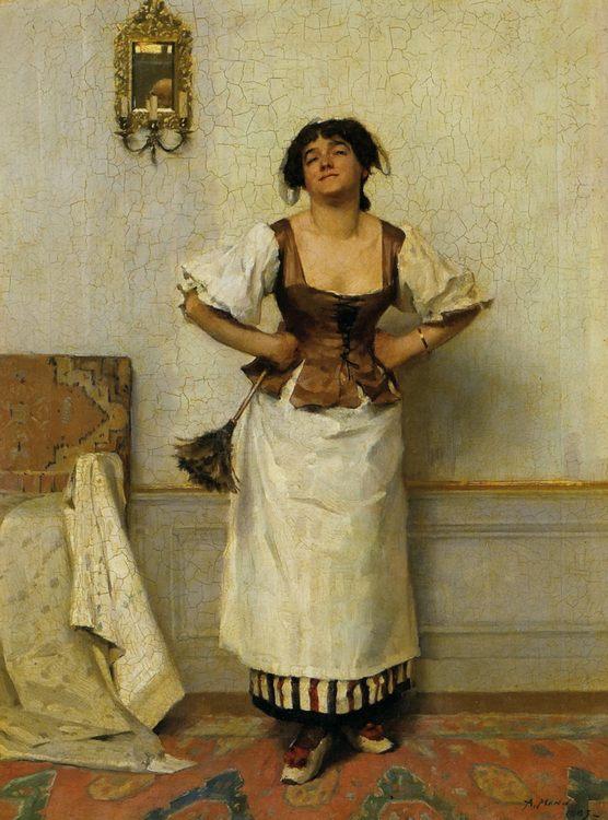 Soubrette :: Alexander Mann - 7 female portraits ( the end of 19 centuries ) in art and painting ôîòî