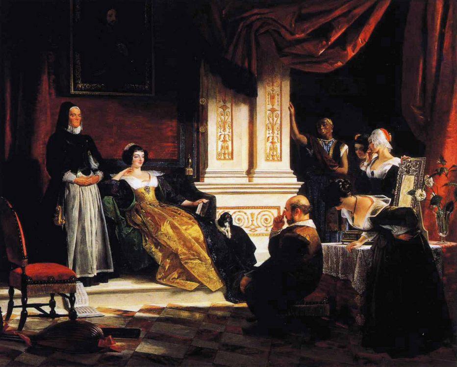 Sancho Panza in the Apartments of the Duchess :: Charles Robert Leslie - Rich interiors ôîòî