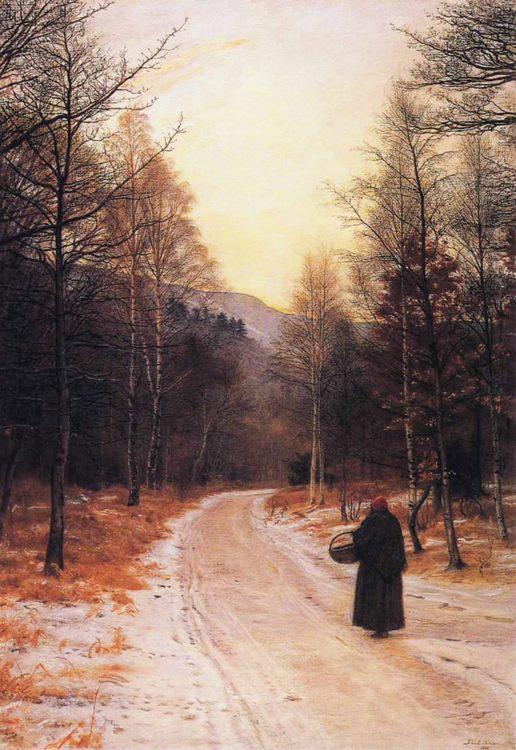Glen Birnam :: John Everett Millais - winter landscapes фото