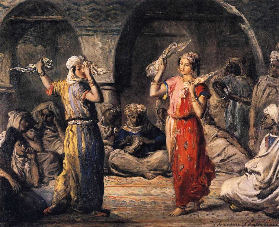 Moorish Dancers :: Theodore Chasseriau  - Arab women ( Harem Life scenes ) in art  and painting фото