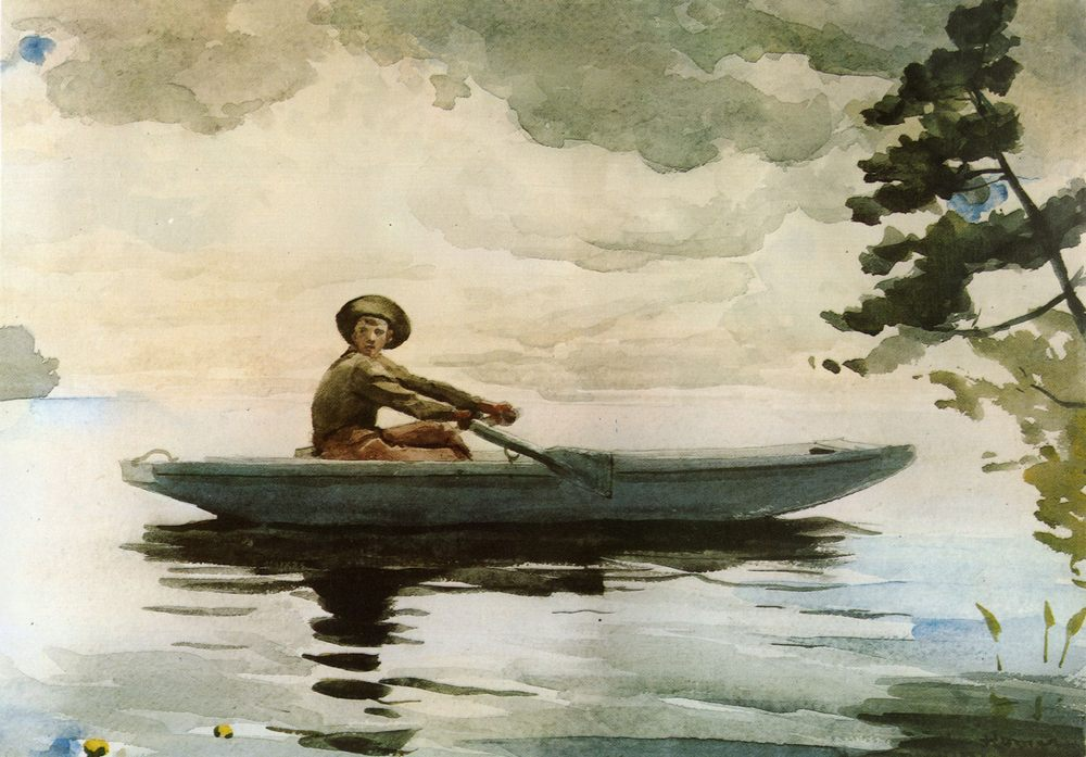 The Boatman :: Winslow Homer - Fishing scenes фото