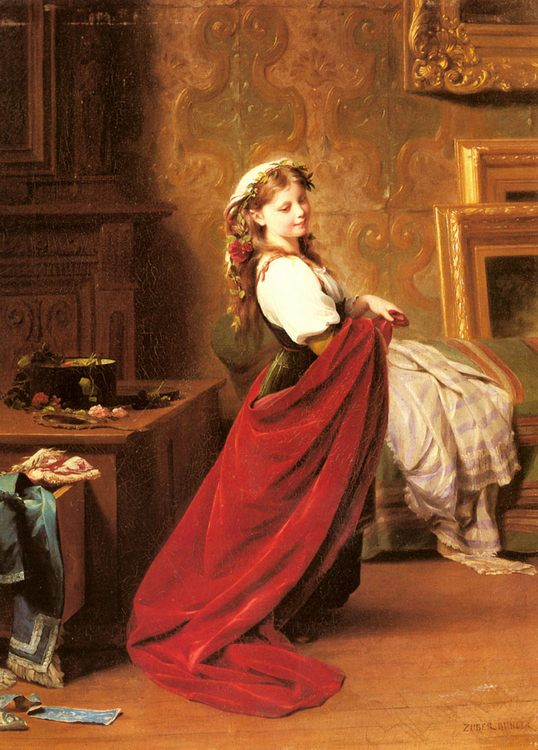 Dressing Up :: Fritz Zuber-Buhler - Young beauties portraits in art and painting фото