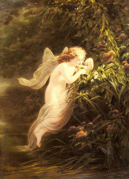 The Spirit of the Morning :: Fritz Zuber-Buhler  - Fantasy in art and painting фото