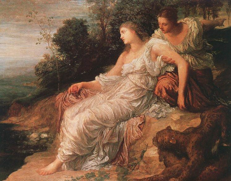 Ariadne on the Island of Naxos :: George Frederick Watts - mythology and poetry фото