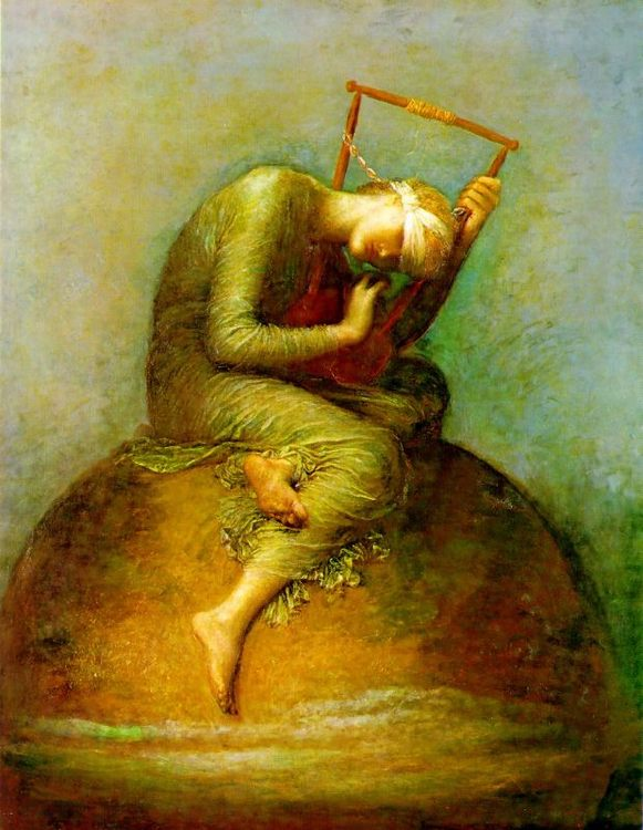 Hope :: George Frederick Watts  - Allegory in art and painting фото