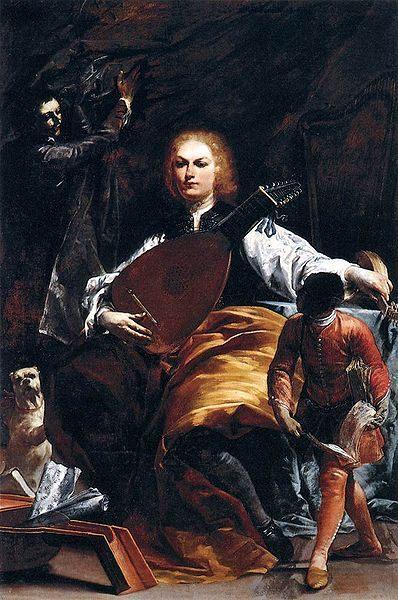 Count Fulvio Grati :: Crespi Giuseppe Maria - men's portraits 18th century фото
