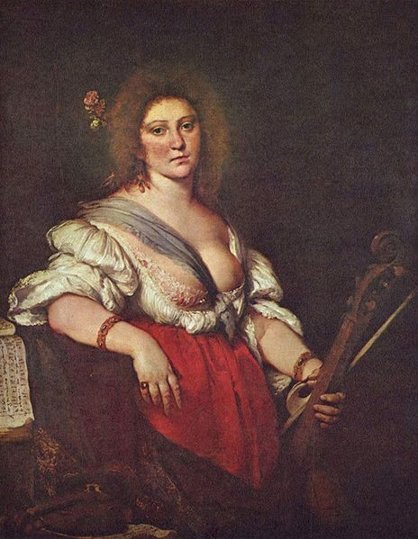 The Viola da Gamba Player :: Bernardo Strozzi - 3 women portraits 17th century hall фото