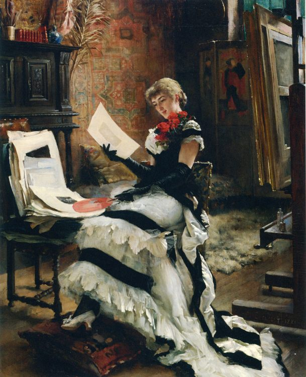 At the artist (The Prints) :: Albert Edelfelt - Interiors in art and painting фото