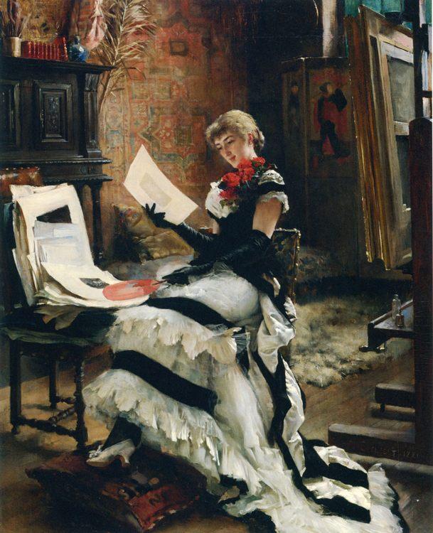 At the artist (The Prints) :: Albert Edelfelt - Interiors in art and painting ôîòî