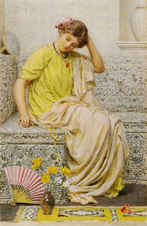 Hairpins :: Albert Joseph Moore - Antique beauties in art and painting фото