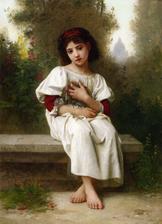 In the Garden :: Elizabeth Jane Gardner Bouguereau - Portraits of young girls in art and painting фото