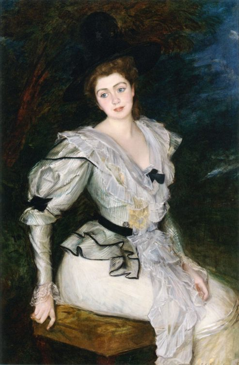 Portrait of a Baronne in Louis XVI Costume :: Jacques Emile Blanche - 7 female portraits ( the end of 19 centuries ) in art and painting ôîòî