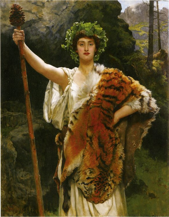 The Priestess of Bacchus :: John Collier - Antique beauties in art and painting фото