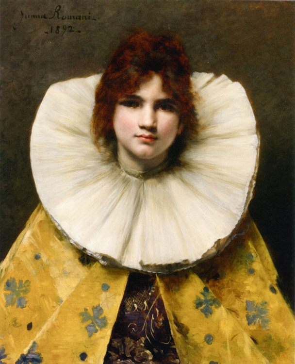 Young Girl with a Ruffled Collar :: Juana Romani - 7 female portraits ( the end of 19 centuries ) in art and painting фото