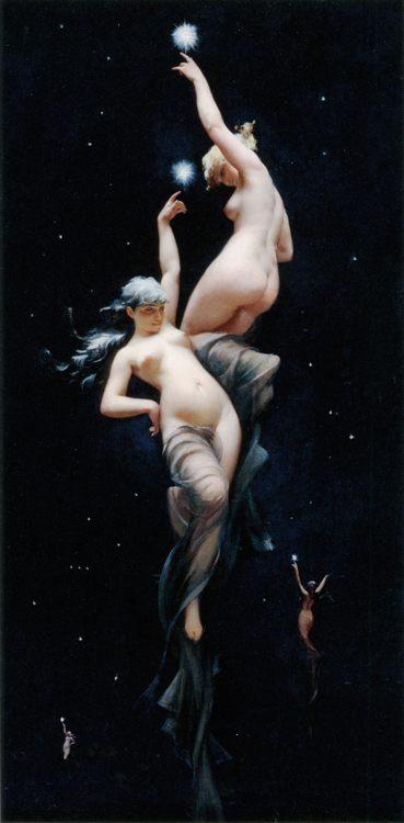 Moonlit Beauties :: Luis Ricardo Falero - Fantasy in art and painting фото