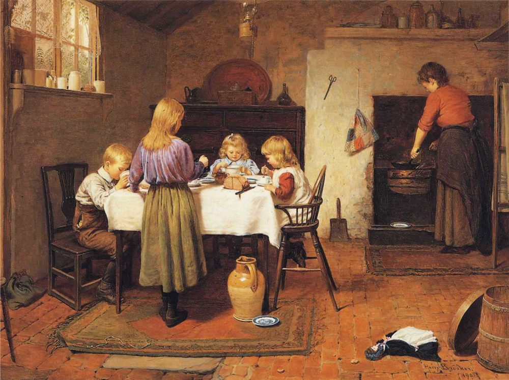 Breakfast Time :: Harry Brooker - Interiors in art and painting фото