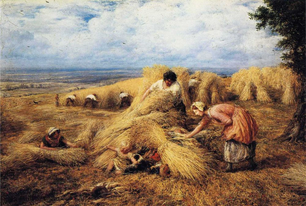 The Harvest Candle :: John Linnell - Village life ôîòî