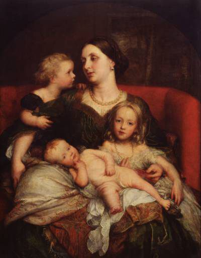 Mrs George Augustus Frederick Cavendish-Bentinck and her Children :: George Frederick Watts - Woman and child in painting and art фото