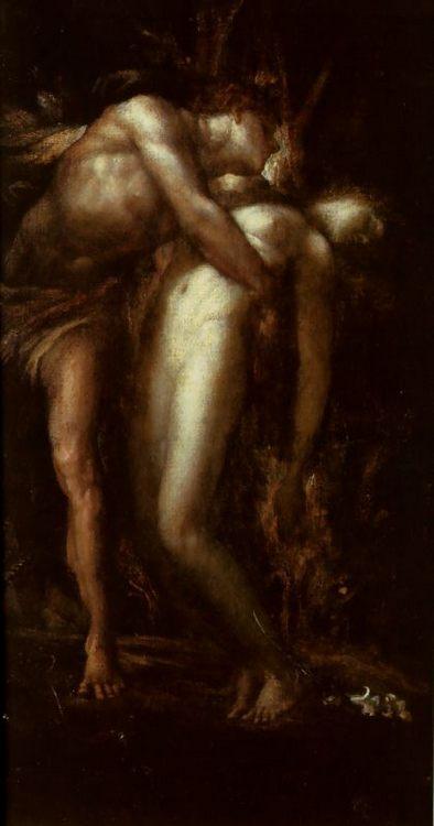 Orpheus and Eurydice :: George Frederick Watts - nu art in mythology painting ôîòî