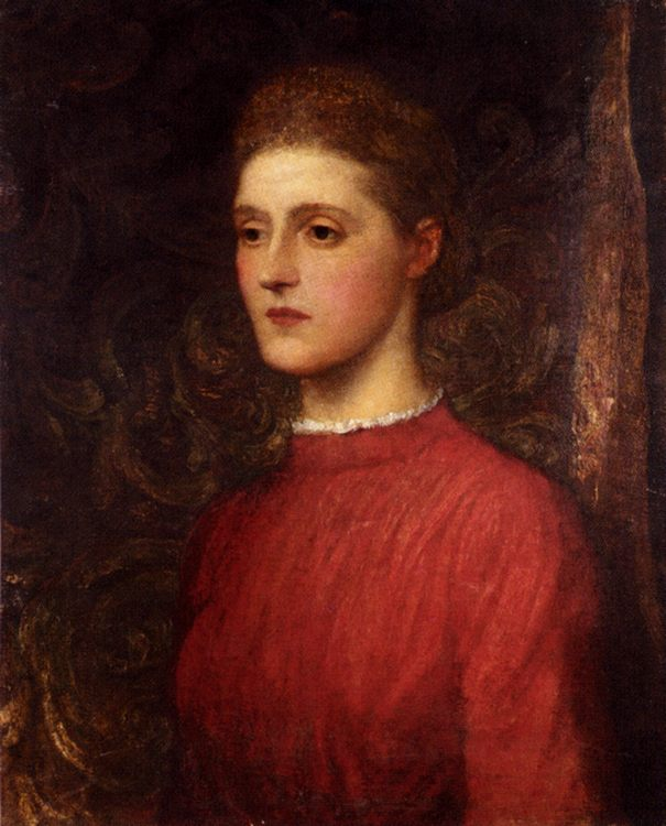Portrait Of A Lady :: George Frederick Watts - 6 woman's portraits hall ( The middle of 19 centuries ) in art and painting фото