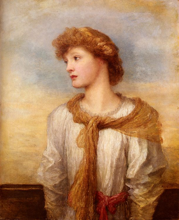 Portrait Of Miss Lilian Macintosh :: George Frederick Watts - 6 woman's portraits hall ( The middle of 19 centuries ) in art and painting фото