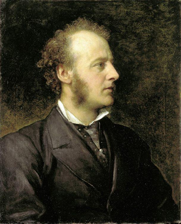 Portrait of Sir John Everett Millais :: George Frederick Watts - men's portraits 19th century (second half) ôîòî