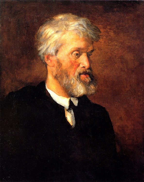 Portrait of Thomas Carlyle :: George Frederick Watts - men's portraits 19th century (second half) фото