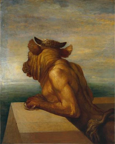 The Minotaur :: George Frederick Watts - mythology and poetry фото