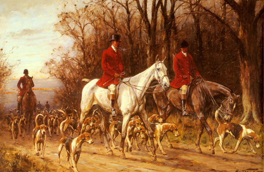 Homewards :: George Wright - Hunting scenes фото